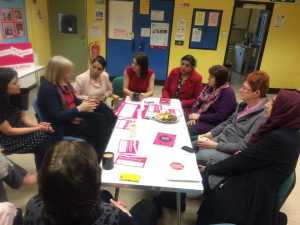 Local women discussed the problems with parliamentary members