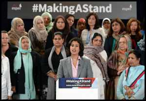 Muslim women making a stand article - Launch of campaign with Sara Khan