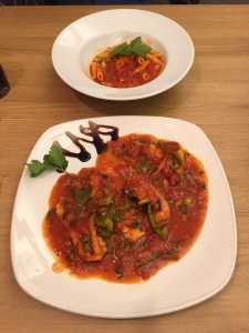Spezatino Pazzo and Penne Al Pomodoro - mamma mia review