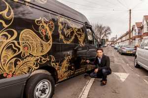 Henna-inspired van designed for Virgin Media