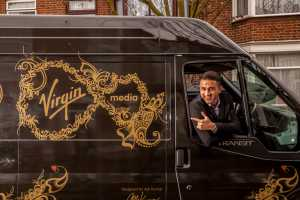 Van-tastic ! Henna artist Ash Kumar gives Virgin Media vans a Bollywood makeover