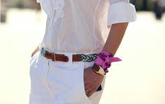 scarf on wrist