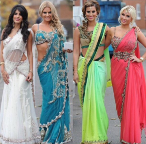 towie cast in asian outfits