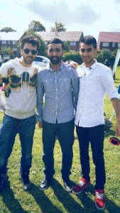 Hashim Ahmed (Right), Abdur Rahim Ibrahim (Middle), Khizar Ibrahim (Left) volunteered on the day to ensure the event went smoothly.