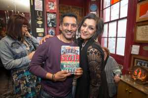 Nitin Ganatra and Meera Syal at the launch of The House of Hidden Mothers