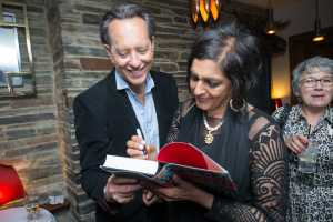 Richard E Grant and Meera Syal
