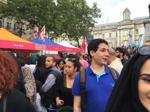 Trafalgar Sq Eid food stalls