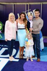 Michelle Heaton was joined by her family