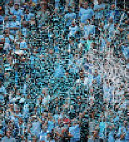 MANCHESTER, ENGLAND - AUGUST 16:  Streamers are thrown by Manchester City fans during the Barclays Premier League match between Manchester City and Chelsea at the Etihad Stadium on August 16, 2015 in Manchester, England.  (Photo by Alex Livesey/Getty Images)