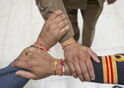 Hindus across the UK celebrate Raksha Bandhan with the Armed Forces