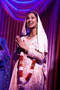 Natasha Jayetileke (Mrs Bhamra) in Bend It Like Beckham The Musical. Photo credit Ellie Kurttz