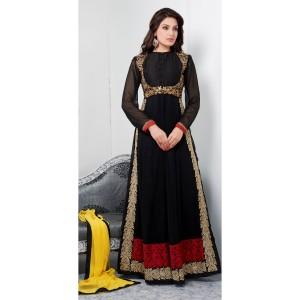 Black gown anarkali from yourshoppingkart.com
