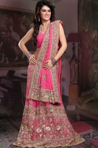 Pink lehenga from pakifash.com.