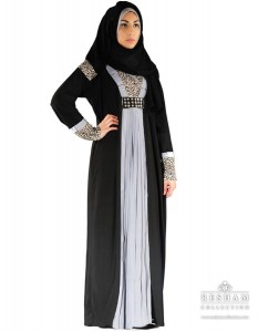 Black Abaya from reshamcollection.com