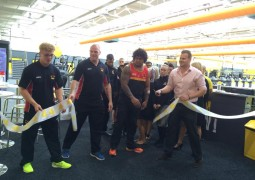 Bradford Bulls Players open the new £1million 'people's gym'