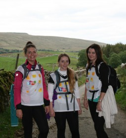 L-R Society colleagues Gemma Stevens, Chloe Pasquall & Kimberly Sexton take on the Yorkshire Three Peaks (1)