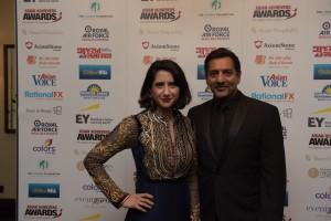 Nitin Ganatra and Sangita Myska AAA Hosts 4 - Pic Credit Shevy Sandhu