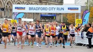 Runners at Bradford City Run