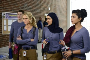 "Priyanka Chopra, far right, stars in ABC's new ""Quantico"" as an FBI trainee."
