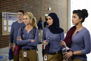 """Priyanka Chopra, far right, stars in ABC's new """"Quantico"""" as an FBI trainee."""