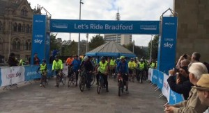 Sky Ride participants begin the race