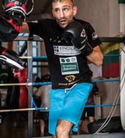 Bradford boxer Tasif Khan has been training in Benidorm in preperation for his super flyweight title match with Isaac Quaye