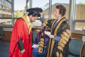 Shah Rukh Khan recieves an honorary degree from the University of Edinburgh's Chancellor, HRH The Princess Royal