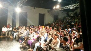 Audience listening to the panel