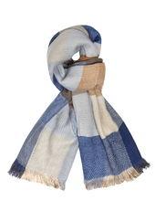 Dorothy Perkins blue check plain scarf