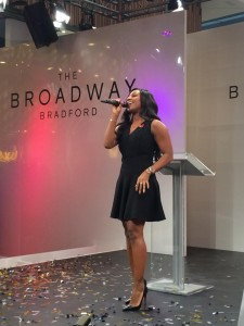 Alexandra Burke performs