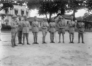 A Group of British and Indian soldiers.