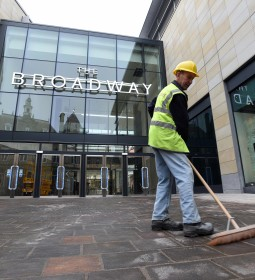 Westfield's Broadway shopping centre in Bradford pictured two days before its official opening.