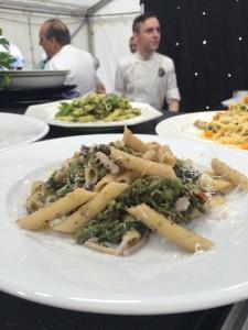 Food prepared by Chef Contaldo