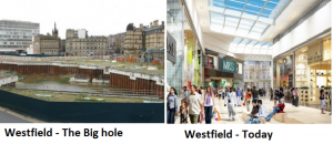 Westfield before and after