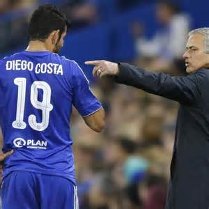 Today's match between and Jose Mourinho will be remembered for an apparent spat between the Chelsea manager and star striker Jose Mourinho.
