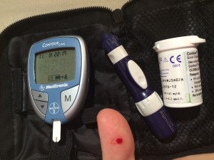 Diabetes blood testing kit