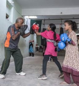 Women's boxing club in Pakistan - Photo credit Sitwat Rizvi