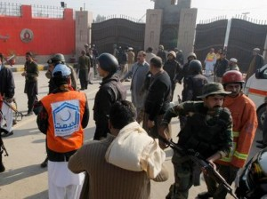 Scenes at Bacha Khan university following gunmen attack