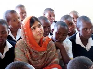 Malala Yousafzai at the Kisaruni Girls School in Massai Mara, Kenya.