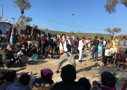 Clown troupe embarks on two-month tour of Europe's refugee camps