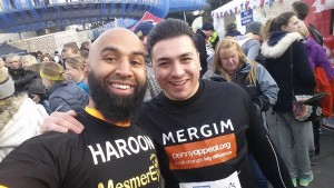 Mergim and Haroon at the starting line