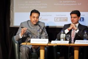 Dr. Sambit Patra and Mr Sachin Pilot