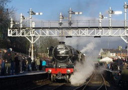 REGIONAL NEWS: Flying Scotsman is back on the rails at North Yorkshire Moors Railway
