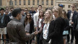 Performing street magic in Oxford