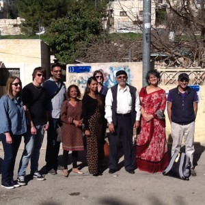 Kauser Jan with NUT delegation and local Palestinians in Gaza