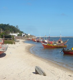 Beautiful unspoiled beaches in fishing village Cabo Polonio