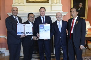David Cameron welcomes President Jokowi of Indonesia to Downing Street
