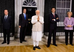Prime Minister Narenda Modi joins world leaders at Madame Tussauds London