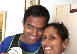 Mani and his wife Rajee, who has been fighting chronic myeloid leukaemia since she was 11 years old