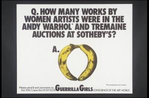 Guerrilla Girls, no title 1985–90
